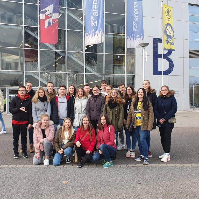 Unser Ausflug in die SAP Arena in Mannheim. Foto: Corina Strobel