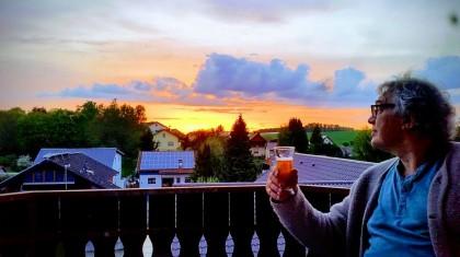 Doktor Stau auf seinem Balkon Foto: Julia Ziegler